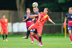 Dominika Conc of ZNK Pomurje vs. Ştefania Vatafu of Olimpia Cluj Napoca during the UEFA Women's Champions League Qualifying Match between ZNK Teleing Pomurje (SLO) and Olimpia Cluj (ROU) at Sportni Park on August 16, 2015 in Beltinci, Slovenia. Photo by Mario Horvat / Sportida