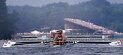 Atlanta, USA. GBR M4- Bow, Rupert OBHOLZER, Jonny SEARLE, Greg SEARLE and stroke, Tim FOSTER. 1996 Olympic Rowing Regatta Lake Lanier, Georgia, USA.  [Mandatory Credit Peter Spurrier/ Intersport Images]