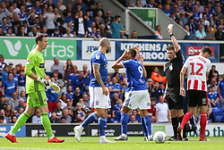 Kayden Jackson of Ipswich Town is booked for simulation - Mandatory by-line: Arron Gent/JMP - 10/08/2019 - FOOTBALL - Portman Road - Ipswich, England - Ipswich Town v Sunderland - Sky Bet League One