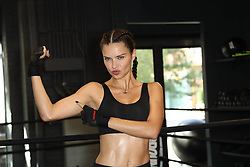 "Adriana Lima at ""Train Like an Angel"" in New York City."