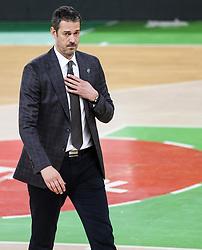 Jurica Golemac, head coach of Cedevita Olimpija during basketball match between KK Cedevita Olimpija (SLO) and KK Zadar (CRO) in Round #22 of ABA League 2020/21, on January 30, 2021 in Arena Stozice, Ljubljana, Slovenia.  Photo by Vid Ponikvar / Sportida