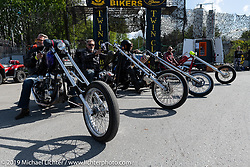 Visitors from the continent about to head out after the Twin Club's Custom Bike Show. Norrtälje, Sweden. Sunday, June 2, 2019. Photography ©2019 Michael Lichter.