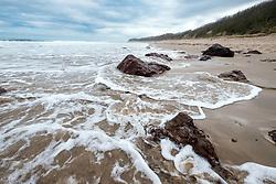View of Seacliff Beach in East Lothian , Scotland, United Kingdom