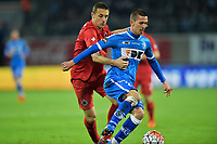 Fotball<br /> Belgia<br /> Foto: PhotoNews/Digitalsport<br /> NORWAY ONLY<br /> <br /> Wikheim Gustav forward of KAA Gent in duel with  Simons Timmy midfielder of Club Brugge during the Croky Cup 1/2 final first leg match between KAA Gent and Club Brugge in the Ghelamco Arena in Gent, Belgium.