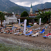 Ozcan hotel beach in Turunc, Marmaris, Turkey