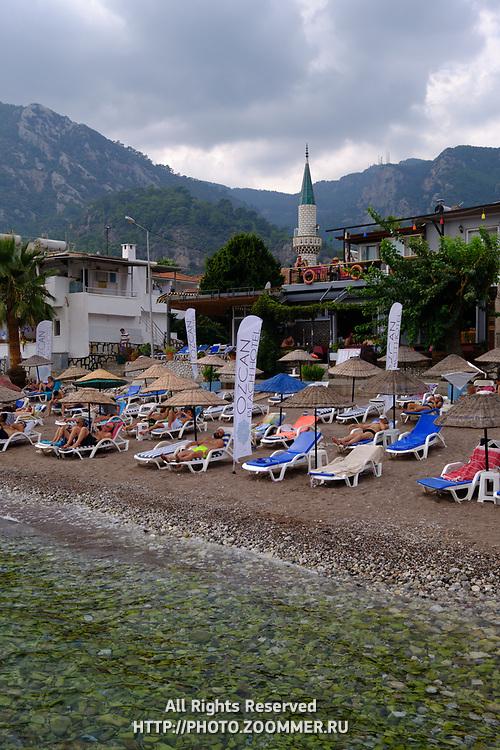 Ozcan hotel beach in Turunc, Marmaris, Turkey