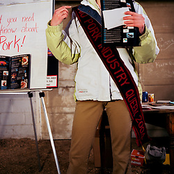 """The 2004 Ohio Pork Industry Princess gives a lecture to a local 4-H group at Swine Camp.  Her lecture was entitled, """"What you need to know about pork,"""" and included interesting facts like that Uncle Sam was a pork meatpacker."""