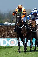 Grand National Meeting - Ladies' Day<br /> e.g. of caption:<br /> National Hunt Horse Racing - 2017 Randox Grand National Festival - Friday, Day Two [Ladies' Day]<br /> <br /> Winner Nicko De Bonville on Might Bite in the Betway Mildmay Novices' Chase (Grade 1) (Class 1) 3m 210y, Good<br /> 5 Runnersat Aintree Racecourse.<br /> <br /> COLORSPORT/WINSTON BYNORTH