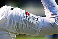Sky Bet League One Logo visible on a Peterborough United Match Shirt during the EFL Sky Bet League 1 match between Ipswich Town and Peterborough United at Portman Road, Ipswich, England on 23 January 2021.