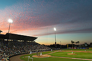A general view of Hammond Stadium during a spring training game between the Pittsburgh Pirates and the Minnesota Twins in Ft. Myers, Florida on March 13, 2013.