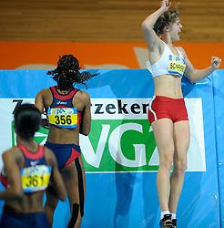 07-02-2010 ATLETIEK: NK INDOOR: APELDOORN<br /> Nederlands kampioen Dafne Schippers wint de 60 meter<br /> ©2010-WWW.FOTOHOOGENDOORN.NL