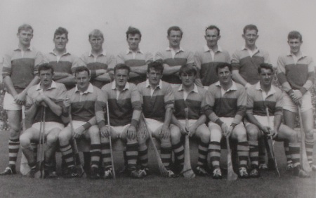 Wexford-All-Ireland Hurling Champions 1968. Back Row; Dan Quigley (capt), Eddie Kelly, Willie Murphy, Jack Berry, Phil Wilson, Tom Neville, Tony Doran, Dave Bernie. Front Row: Pat Nolan, Seamus Whelan, Paul Lynch, Christy Jacob, Vinnie Staples, JImmy O'Brien, Ned Colfer.