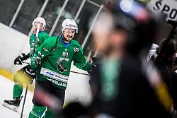 RAJSAR Saso of HK SZ Olimpija during Ice Hockey match between HK SZ Olimpija and HC Pustertal Wolfe in 3rd Final game of Alps Hockey League 2018/19, on April 14th, 2019, in Hala Tivoli, Ljubljana, Slovenia. Photo by Grega Valancic