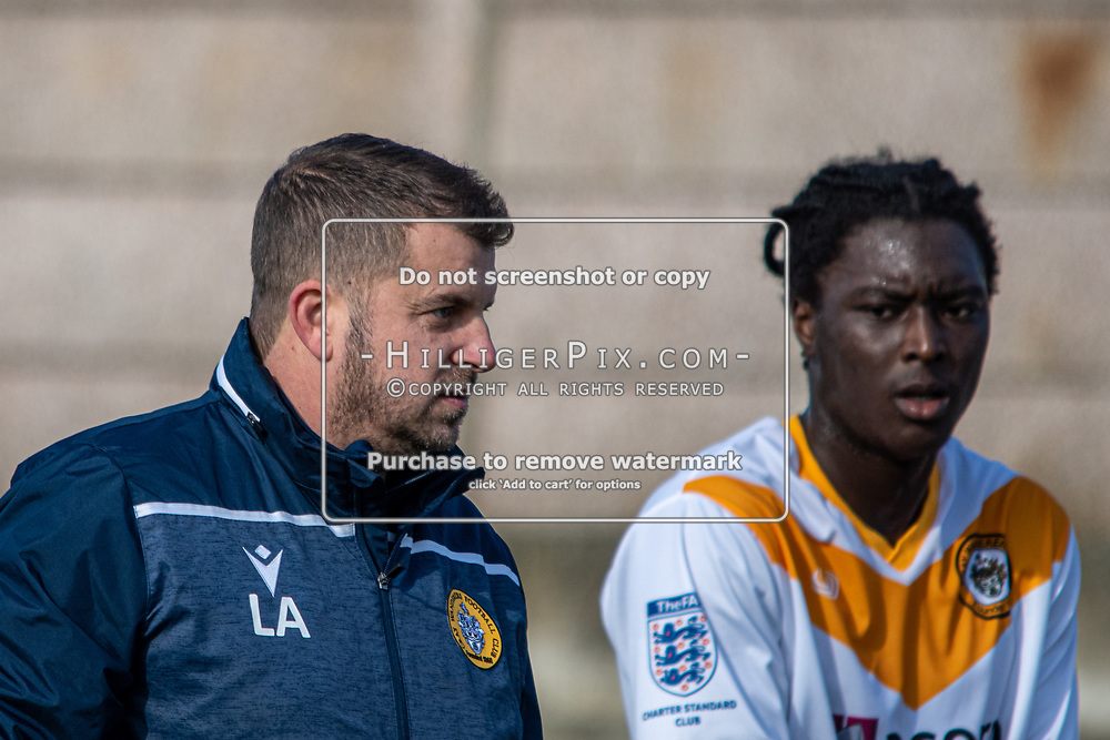 FOLKESTONE, UK - OCTOBER 27: The Kent Coutny Cup match between Folkestone Invicta and Cray Wanderers at BuildKent Stadium on October 27, 2019 in Folkestone, UK. <br /> (Photo: Jon Hilliger)