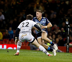 Cardiff Blues' Aled Summerhill<br /> <br /> Photographer Simon King/Replay Images<br /> <br /> Guinness PRO14 Round 21 - Cardiff Blues v Ospreys - Saturday 28th April 2018 - Principality Stadium - Cardiff<br /> <br /> World Copyright © Replay Images . All rights reserved. info@replayimages.co.uk - http://replayimages.co.uk