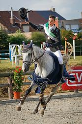 """Korsten Lennert (BEL) - Ilusie """"Q"""" """"FVD""""<br /> SBB Competitie Jonge Paarden - Nationaal Kampioenschap - Kieldrecht 2014<br /> © Dirk Caremans"""