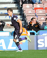 Chris Martin of Derby County celebrates his goal during the Sky Bet Championship match at the John Smiths Stadium, Huddersfield<br /> Picture by Graham Crowther/Focus Images Ltd +44 7763 140036<br /> 24/10/2015