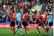 Cardiff city's Matthew Connolly (12) celebrates after he scores the opening goal. NPower Championship, Cardiff city v Middlesbrough at the Cardiff city stadium in Cardiff in South Wales on Saturday 17th November 2012.  pic by Andrew Orchard, Andrew Orchard sports photography,