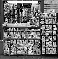 A newsstand on 72nd street and Broadway in New York City