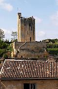 Tour du Roy, King's Tower. The town. Saint Emilion, Bordeaux, France