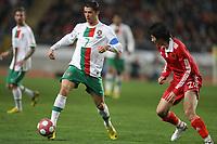 20100303: COIMBRA, PORTUGAL - Portugal vs China: International Friendly. In picture: Cristiano Ronaldo (Portugal) and Yu Hai (China). PHOTO: CITYFILES