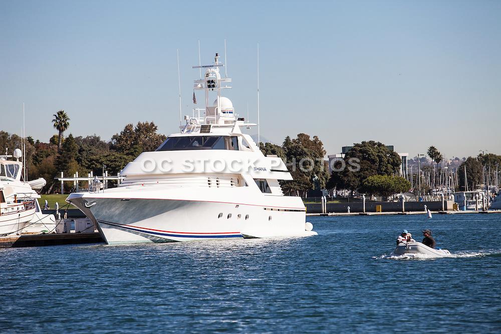 Private Yacht Docked at the Marina at Marina Del Rey