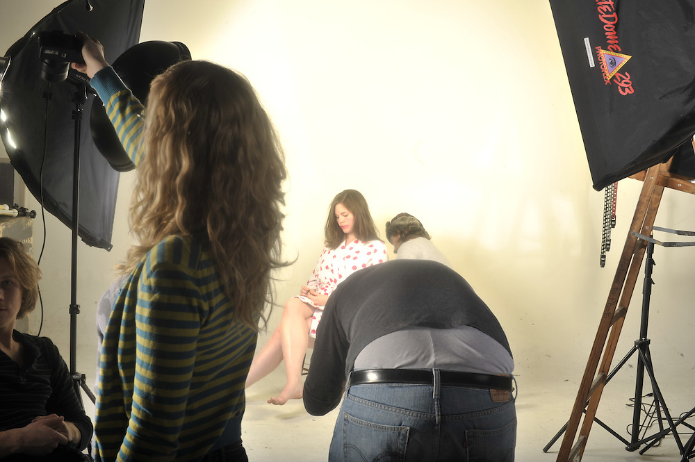 """(Tuesday December 9, 2008)..""""Shot by Roth"""" production stills at the PPC studios."""