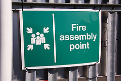 Fire assembly point notice,