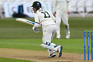 Tom Moores of Nottinghamshire during the LV= Insurance County Championship match between Nottinghamshire County Cricket Club and Durham County Cricket Club at Trent Bridge, Nottingham, United Kingdom on 9 April 2021.
