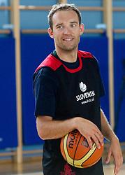 Samo Udrih during media day at training camp of Slovenian National Basketball team for Eurobasket Lithuania 2011, on July 19, 2011, in Arena Ljudski vrt, Ptuj, Slovenia.  (Photo by Vid Ponikvar / Sportida)
