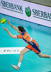 Diko Puric of ACH during volleyball match between ACH Volley (SLO) and Lotos Trefl Gdansk (POL) in 3rd Leg of Pool F of 2016 CEV DenizBank Volleyball Champions League, on December 3, 2015 in Arena Stozice, Ljubljana, Slovenia. Photo by Vid Ponikvar / Sportida