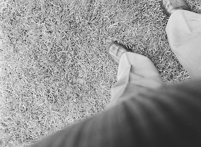 Accidental photograph of the photographers feet during the All Ireland Senior Gaelic Football Semi Final Replay Roscommon v Armagh in Croke Park on the 28th August 1977. Armagh 0-15 Roscommon 0-14.