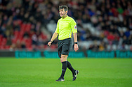 Referee Lee Probert during the EFL Sky Bet League 1 match between Sunderland AFC and Luton Town at the Stadium Of Light, Sunderland, England on 12 January 2019.