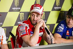 June 8, 2017 - Barcelona, Spain - MotoGP, Andrea Dovizioso(Ita), Ducati Team during the press conference of MotoGp Grand Prix Monster Energy of Catalunya, in Barcelona-Catalunya Circuit, Barcelona on 8th June 2017 in Barcelona, Spain. (Credit Image: © Urbanandsport/NurPhoto via ZUMA Press)