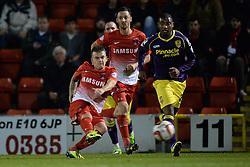 Leyton Orient's Dean Cox takes a shot at goal  - Photo mandatory by-line: Mitchell Gunn/JMP - Tel: Mobile: 07966 386802 17/09/2013 - SPORT - FOOTBALL -  Matchroom Stadium - London - Leyton Orient v Notts County - Sky Bet League One