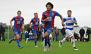 Keshi Anderson leading the Palace attack during the U21 Professional Development League match between U21 QPR and U21 Crystal Palace at the Loftus Road Stadium, London, England on 31 August 2015. Photo by Michael Hulf.