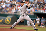 July 24, 2007 - Kansas City, MO..New York Yankees pitcher Chien-Ming Wang delivers a pitch in the first inning against the Kansas City Royals at Kauffman Stadium in Kansas City, Missouri on July 24, 2007...MLB:    .Photo by Peter G. Aiken/Cal Sport Media