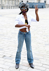 Sinitta, dressed as Simon Cowell attends the X Factor photocall held at Somerset House, London.
