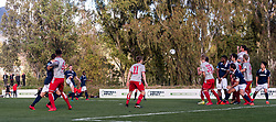 Robert Muhren of Sparta Rotterdam scvores a free kick during the friendly match between Sparta Rotterdam and 1 FC Kaiserslautern at Dama de Noche on January 11, 2018 in  Marbella, Spain