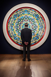 © licensed to London News Pictures. London, UK 21/06/2013. 'Soulful' by Damien Hirst estimated to be sold for £650,000-850,000 in Christie's upcoming Post-War & Contemporary Art Evening Auction which will take place on June 25, 2013. Auction features with works by Basquiat, Doig, Liechtenstein and Warhol and total estimate is £56-72 million. Photo credit: Tolga Akmen/LNP