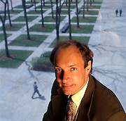 Tim Berners Lee, a graduate of Oxford University, England, inventer of the World Wide Web, photographed at MIT in Cambridge, Massachusetts where he now teaches.