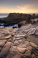 Eroded sandstone and Tafoni formations, Sonoma Coast, Salt Point State Park California