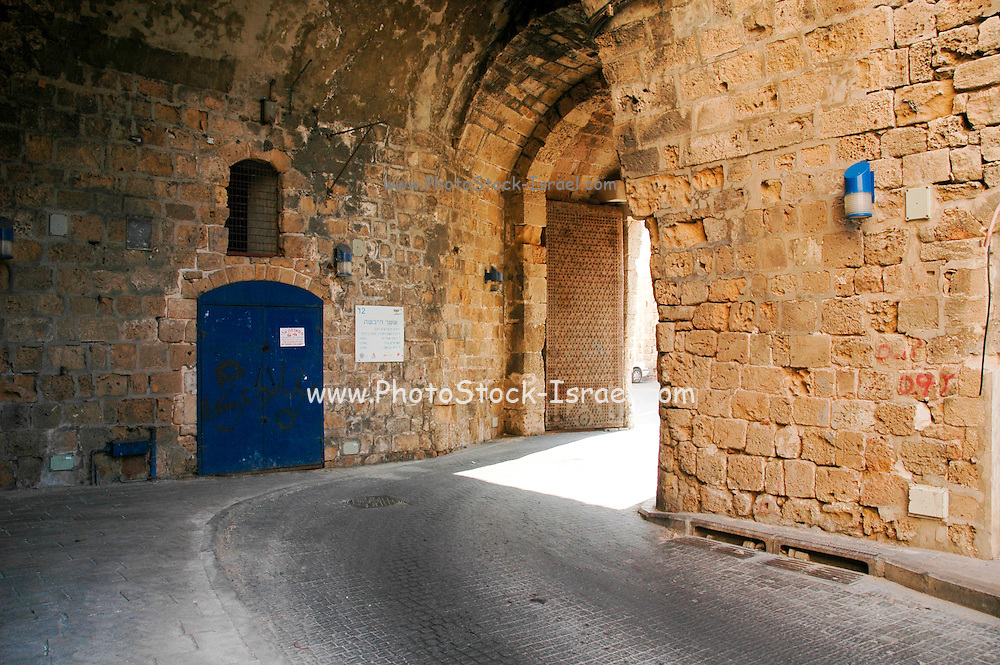 The gate at the entrance to the old, walled city of Acre, a city in northern Israel with a history spanning centuries. It also played a major role in the holy land crusades