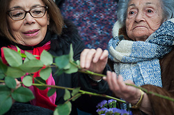 During a tribute to the victims on January 30, 2016. Ascension Mendieta right and Ana Mesutti, lawyer of the family, left.