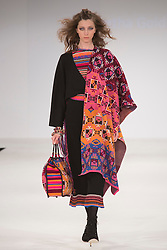 © Licensed to London News Pictures. 01/06/2015. London, UK. Collection by Samantha Goldsmith. Fashion show of Nottingham Trent University at Graduate Fashion Week 2015. Graduate Fashion Week takes place from 30 May to 2 June 2015 at the Old Truman Brewery, Brick Lane. Photo credit : Bettina Strenske/LNP