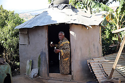 SOUTH AFRICA - Durban - 05 August 2020 - Traditional healer Mkhulu Ngcobo of Inanda, Durban inside his Indumba (Shrine) ahead of a consultation. Ngcobo has discovered a muti that will help to boost the immune system while the body is fighting Corona Virus. One of his approved medicine IHashi is a Immune system booster medicine made from natural herbs produced by Simbithi Medicines and was approved by UKZN medicine school. <br /> Picture: Motshwari Mofokeng/African News Agency (ANA)