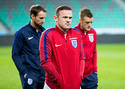 Wayne Rooney during pitch check of Team England 1 day before football match between National teams of Slovenia and England in Round #3 of FIFA World Cup Russia 2018 qualifications in Group F, on October 10, 2016 in SRC Stozice, Ljubljana, Slovenia. Photo by Vid Ponikvar / Sportida