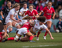 England Women's Shaunagh Brownin action during todays match<br /> <br /> Photographer Bob Bradford/CameraSport<br /> <br /> 2020 Women's Six Nations Championship - England v Wales - Saturday 7th March 2020 - The Stoop - London<br /> <br /> World Copyright © 2020 CameraSport. All rights reserved. 43 Linden Ave. Countesthorpe. Leicester. England. LE8 5PG - Tel: +44 (0) 116 277 4147 - admin@camerasport.com - www.camerasport.com