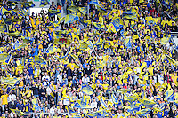 Supporters Clermont - 18.04.2015 - Clermont / Saracens - 1/2Finale European Champions Cup<br />Photo : Jean Paul Thomas / Icon Sport
