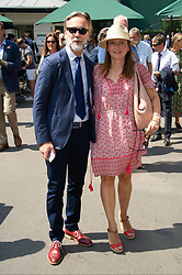 July 4, 2018 - London, London, UK - London, UK. Chef Marcus Wearing and wife Jane Wearing attend the Wimbledon Tennis Championships 2018, Day 3. (Credit Image: © Ray Tang/London News Pictures via ZUMA Wire)